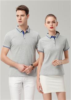 短袖polo衫、短袖文化衫、广告衫XH1878灰色
